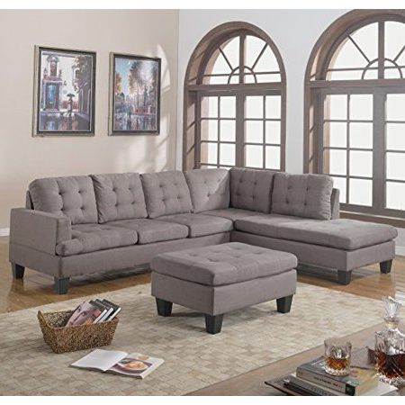 Divano sofas 9ddf Divano Roma Furniture 3 Piece Reversible Chaise Sectional sofa with