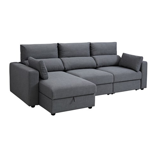 Divano sofas O2d5 Eskilstuna 3 Seat sofa with Chaise Longue nordvalla Dark Grey Ikea
