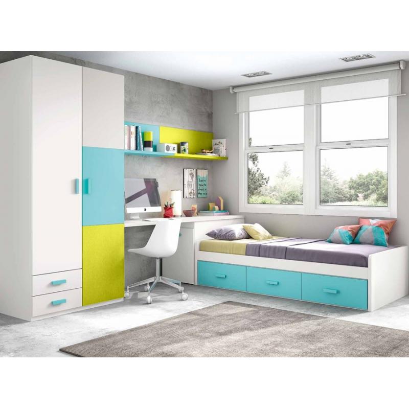 Dormitorios Juveniles Con Escritorio 3id6 Dormitorio Juvenil Con Armario Y Escritorio