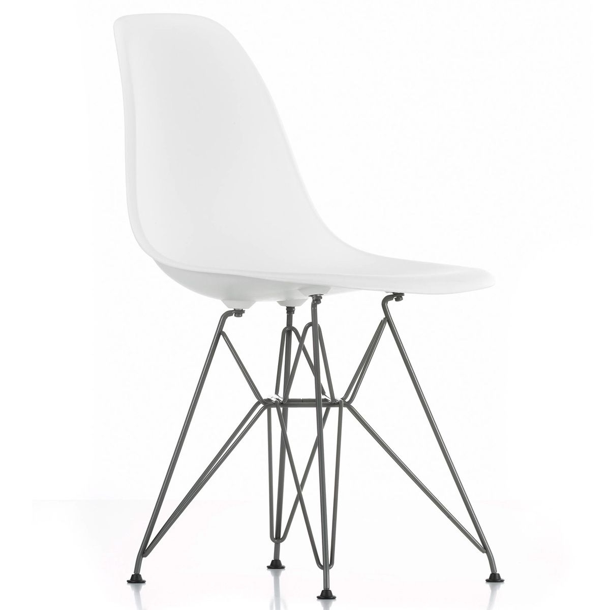 Eames Silla E6d5 original Eames Plastic Dsr Chair by Vitra In Naharro
