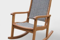 Easy Chair Xtd6 Gray All Weather Wicker and Wood Galena Rocking Chair World Market