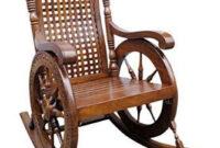Easy Chair Zwdg Craftatoz Wooden Rocking Easy Resting Chair Brown 43 X 24 X 37