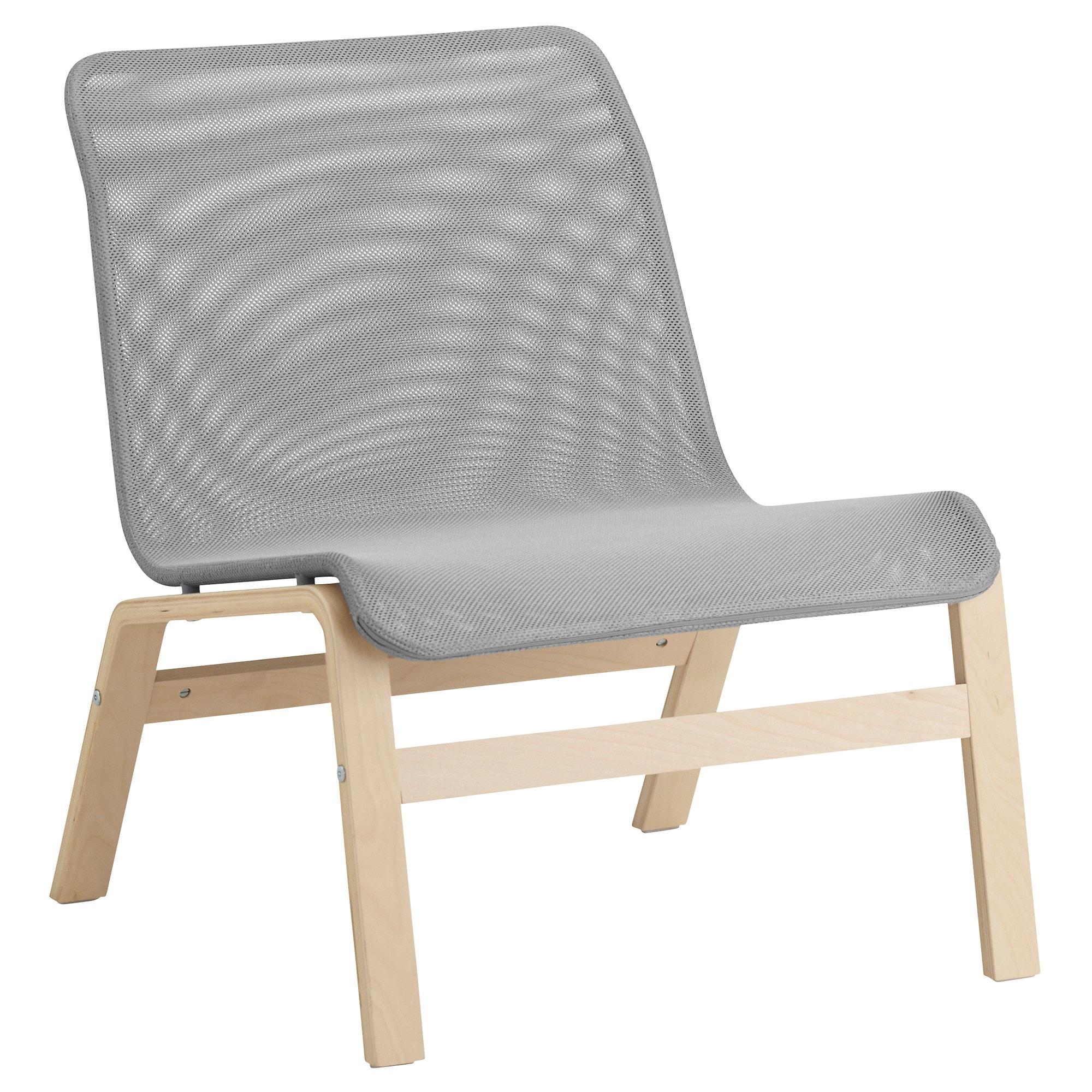 Easychair Irdz Nolmyra Easy Chair Birch Veneer Grey Ikea