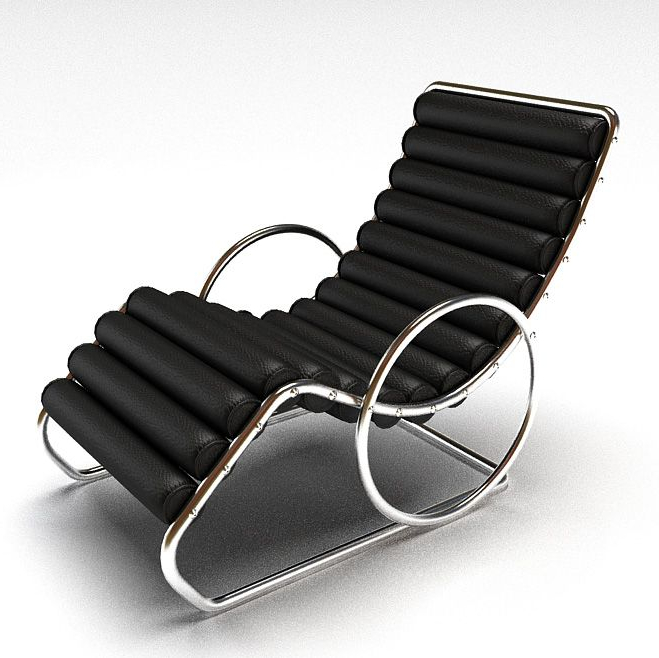 Easychair Q0d4 Steel Framed Black Easy Chair 3d Model Cgtrader