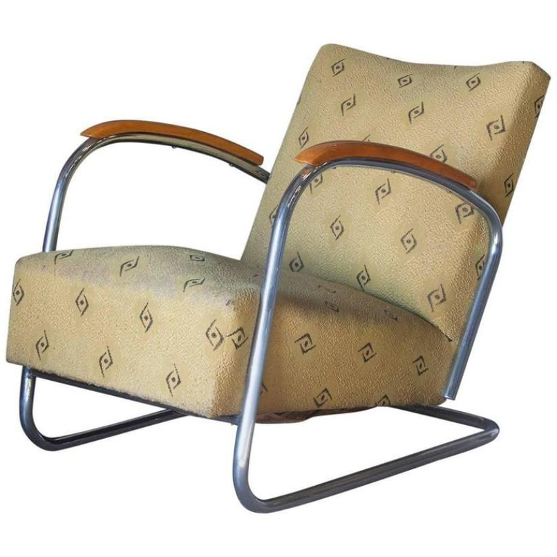 Easychair Q0d4 Vintage Dutch Tubular Easy Chair 1930s for Sale at Pamono