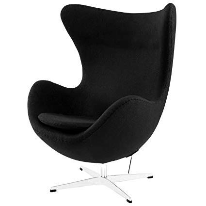 Egg Chair Ffdn Arne Jacobsen Egg Chair Black Home Kitchen