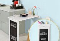 Escritorio Abatible 87dx Mesa De Escritorio Abatible Blanca Para Cocina O Dormitorio Con Pizarra