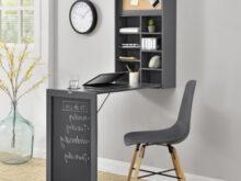 Escritorio Abatible E9dx Mesa De Escritorio Abatible Con Estanterà A Color Gris Para Cocina O