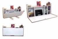 Escritorio Abatible S1du Escritorio Blanco Plegable Repisa Librero Mesa Abatible 3 550 00