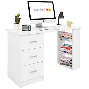 Escritorio Con Cajones J7do ifort T04b Escritorio Con Cajones Y Estantes Mesa De Oficina