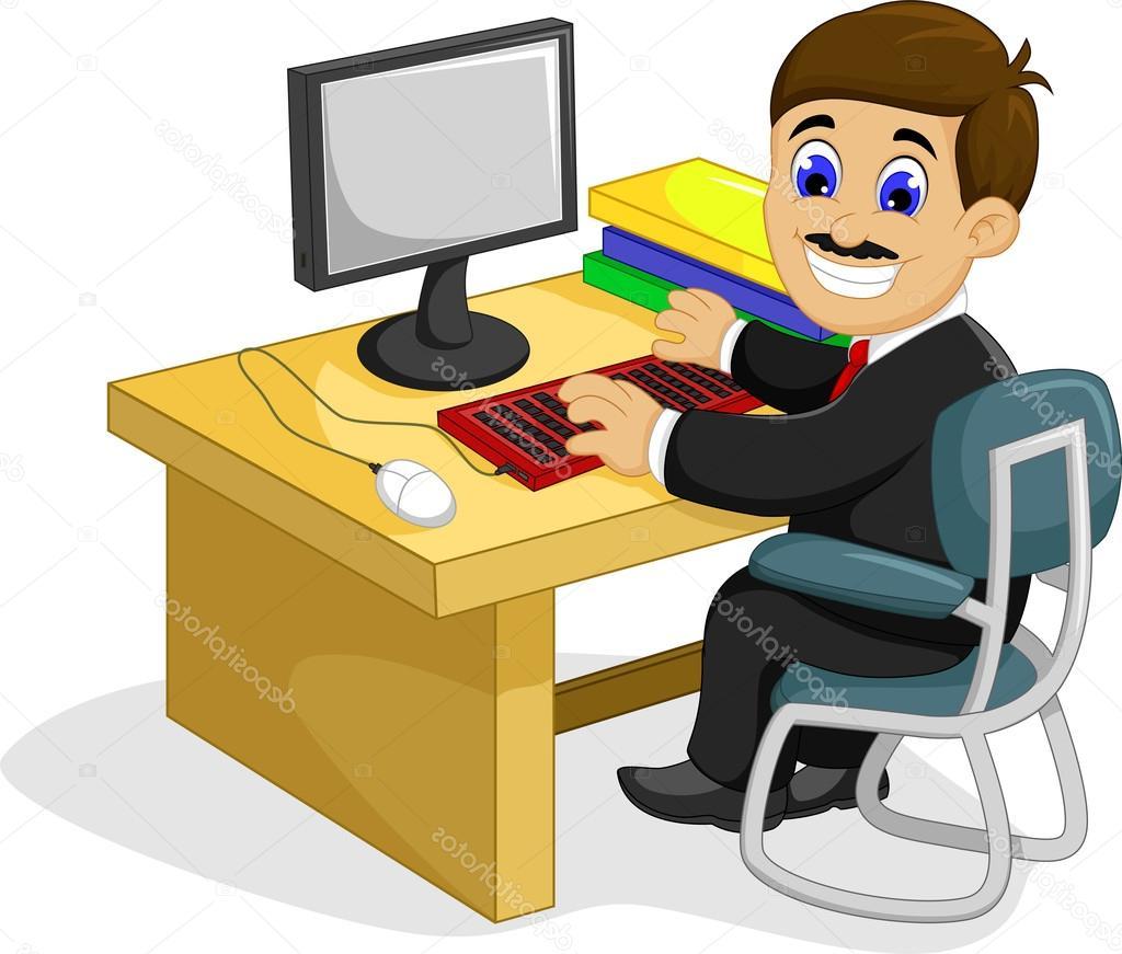 Escritorio Dibujo 4pde Dibujos Oficina Dibujo Dibujos Animados Divertido Empresario