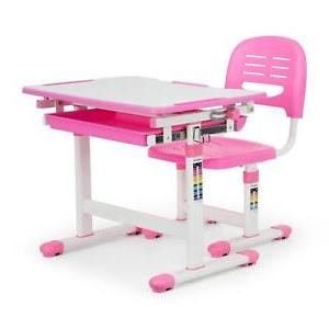 Escritorio Dibujo D0dg Escritorio Infantil Set Mesa Silla Alturas Regulable Color Rosa
