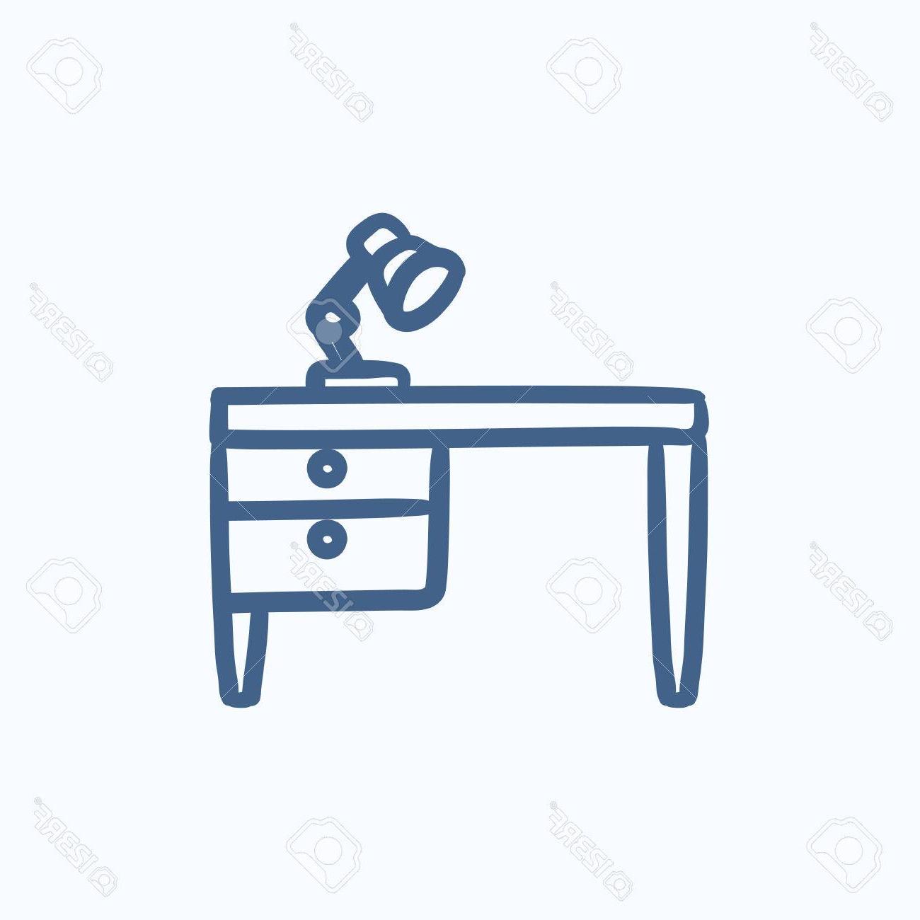 Escritorio Dibujo D0dg LÃ Mpara De Escritorio De Dibujo Icono De Tabla De Vectores Aislados