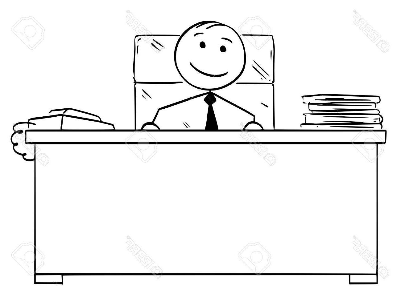 Escritorio Dibujo O2d5 Hombre De Dibujos Animados Stickman Stickman Dibujo De Jefe Feliz