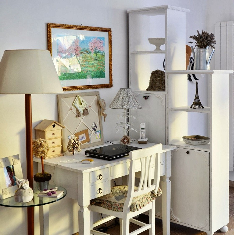 Escritorio En El Salon Ffdn Muebles Salon Estilo Shabbi Chic Vintage Escritorio Sala De Estar