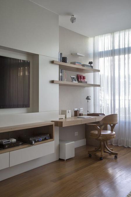 Escritorio En El Salon Ftd8 21 formas De Integrar Una Zona De Trabajo En La Estancia De La Casa