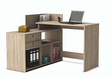 8e72be682c45b Escritorio Estudio Zwd9 Escritorio Mesa De Estudio ordenador 121cm Roble  Para Despacho