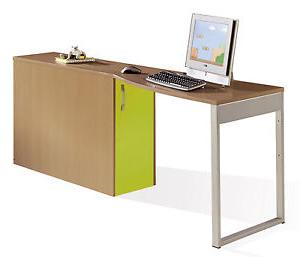 Escritorio Extraible 3id6 Mesa De Escritorio ordenador Estudio Con Arcà N Extraible Cerezo Y