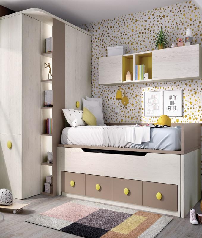 Escritorio Extraible J7do Dormitorio Juvenil Con 2 Camas Armario Con Escritorio Extraible Y