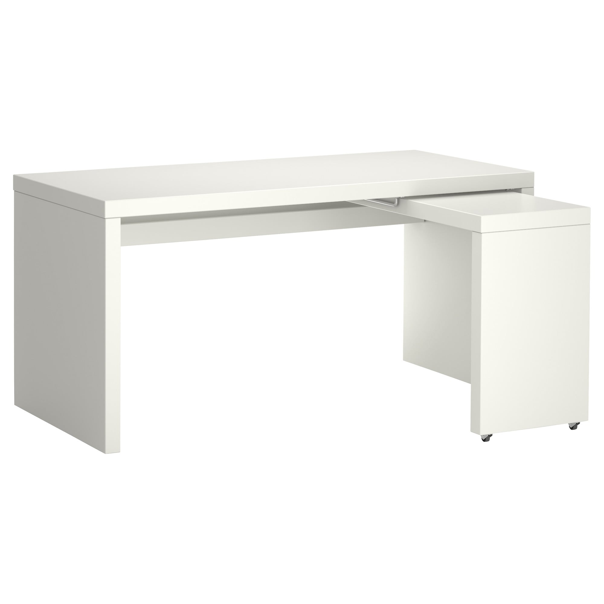 Escritorio Extraible J7do Malm Escritorio Con Tablero Extraà Ble Blanco 151 X 65 Cm Ikea