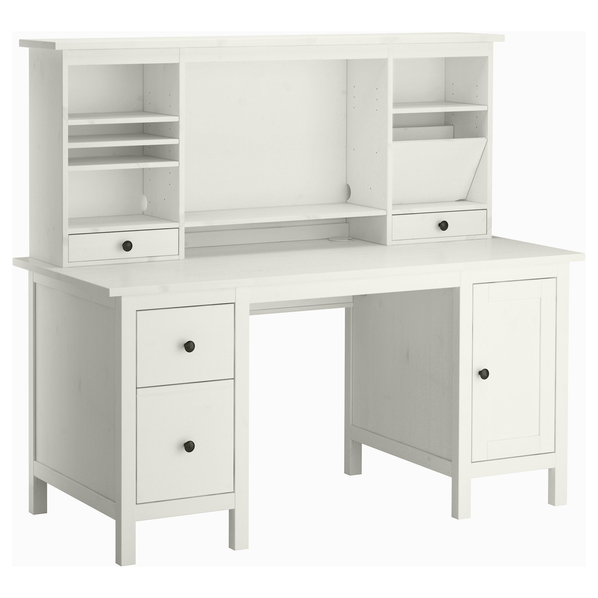 Escritorio Hemnes T8dj Hemnes Desk with Add On Unit White Stain Ink Slinging