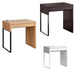 Escritorio Ikea Micke 3ldq Micke Desk Black Brown Oak Effect White 73x50 Cm Ikea New