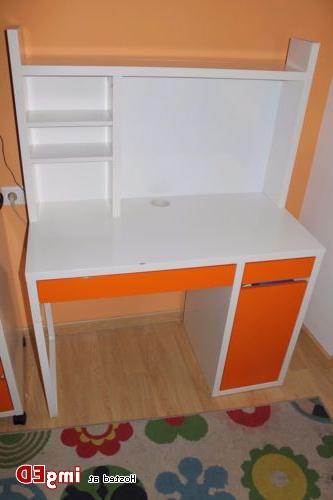 Escritorio Ikea Micke 9fdy Escritorio Blanco Naranja Modelo Micke Ikea Modulo De Ampliacià N