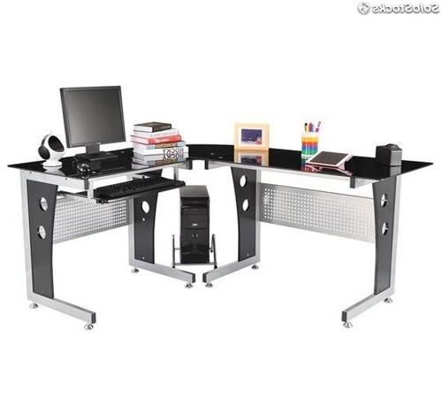 Escritorio Para ordenador 3ldq Hom Mesa De Oficina Escritorio Para ordenador De Cristal Ala