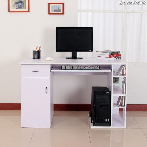 Escritorio Para Pc J7do Mesa De ordenador Tipo Escritorio Para Pc Color Blanco Madera