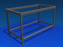 Estructura Metalica Para Hacer Una Mesa