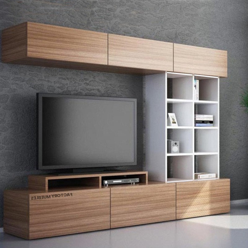 Factory Del Mueble Q0d4 Modular Mesa Tv Biblioteca Melamina Valencia Mueble 6 Cuotas