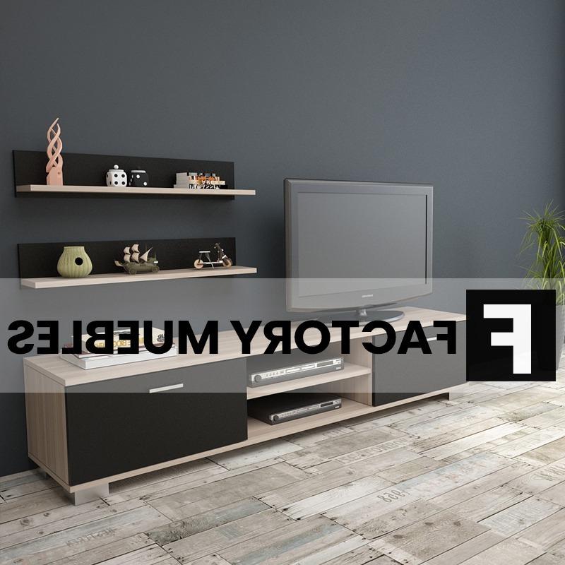 Factory Del Mueble Tldn Modular Mesa Tv Biblioteca Melamina Valencia Mueble 6 Cuotas
