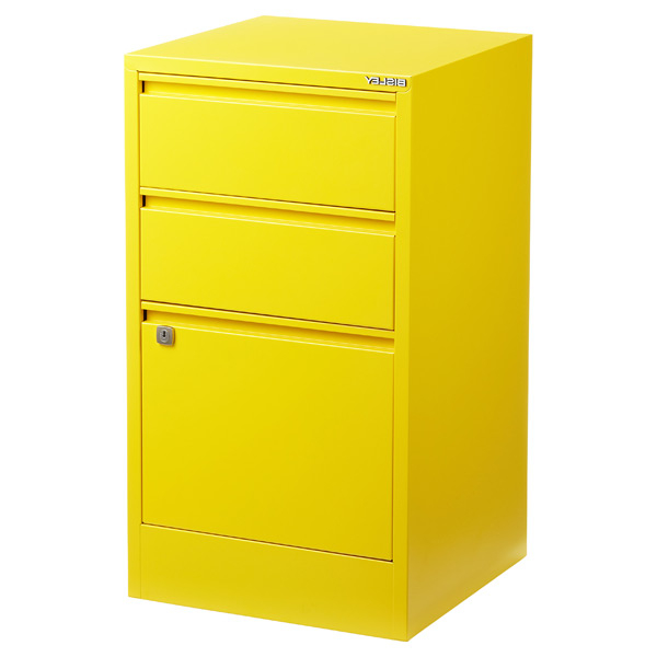 Filing Cabinets Budm Bisley Yellow 2 3 Drawer Locking Filing Cabinets the Container