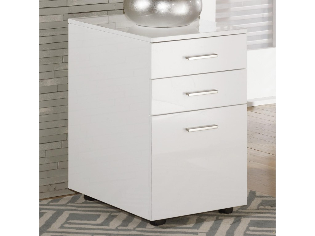 Filing Cabinets D0dg Signature Design by ashley Baraga Full Gloss White File Cabinet with