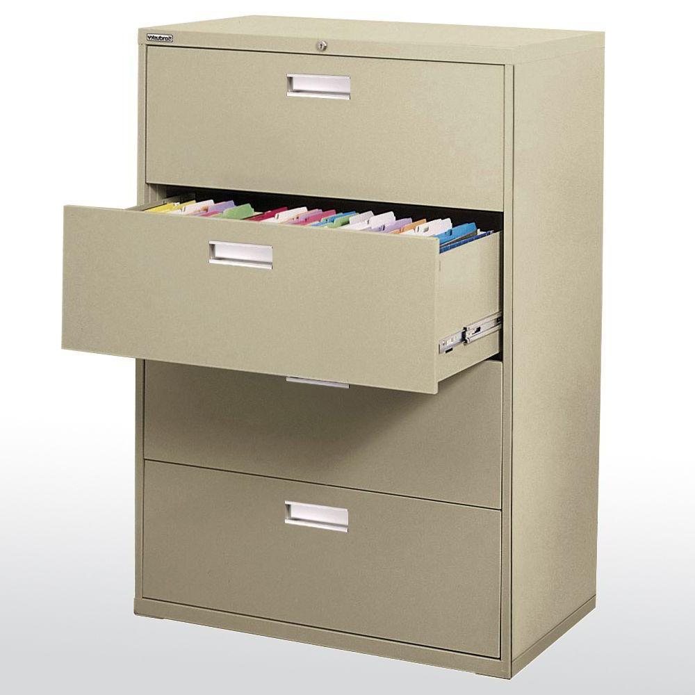 Filing Cabinets Etdg Sandusky 600 Series 53 25 In H X 42 In W X 19 25 In D 4 Drawer