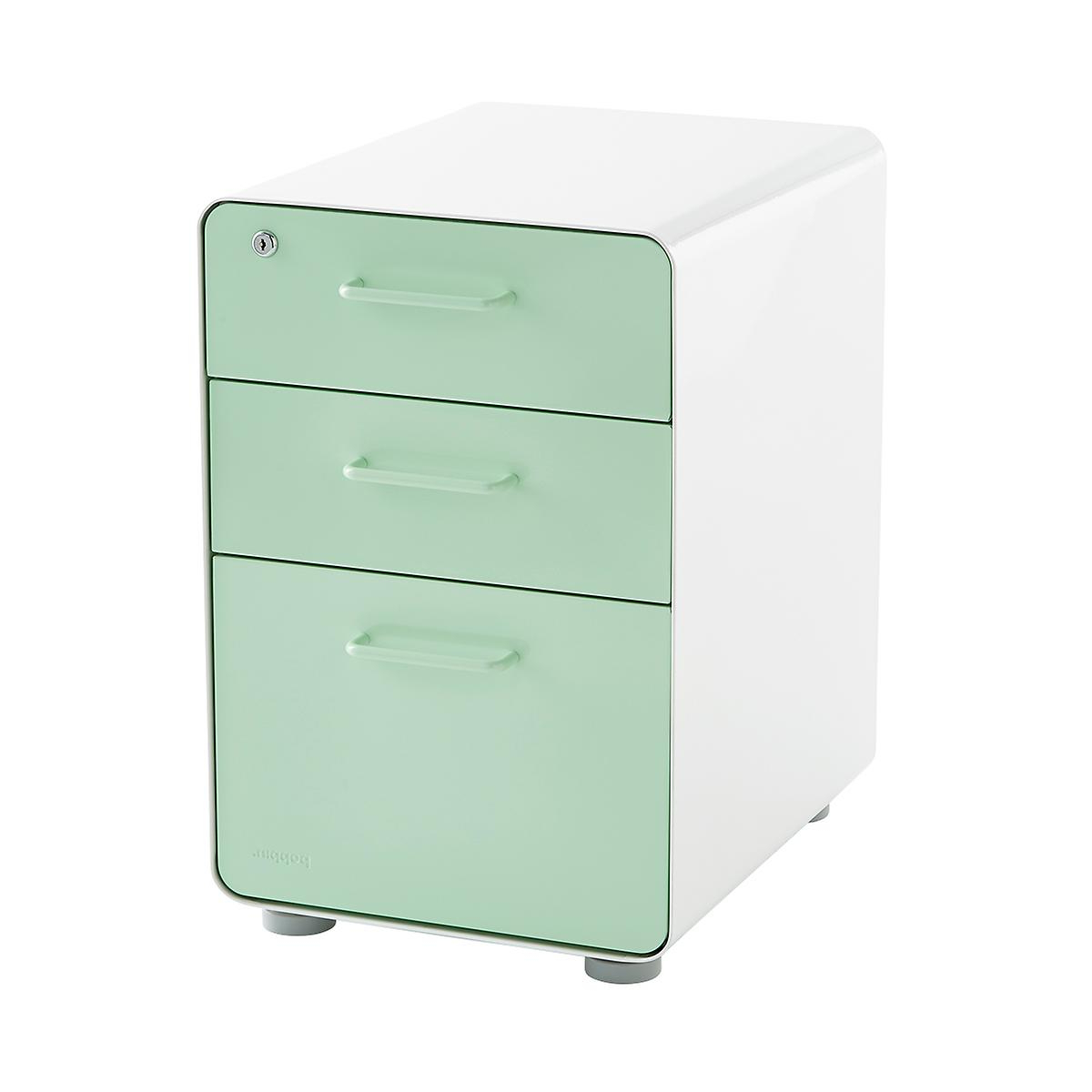 Filing Cabinets H9d9 Poppin Mint 3 Drawer Locking Stow Filing Cabinet the Container Store