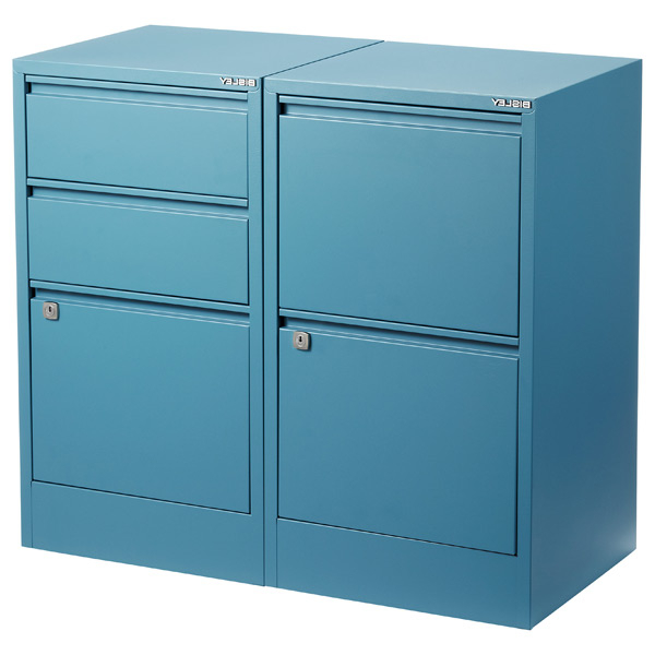 Filing Cabinets Kvdd Bisley Blue 2 3 Drawer Locking Filing Cabinets the Container Store