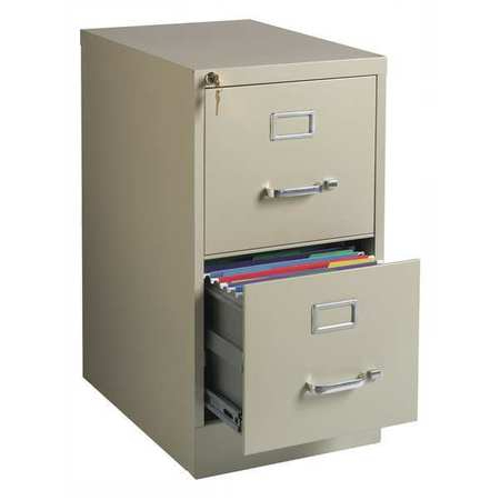 Filing Cabinets Qwdq Hirsh 22 Inch Deep 2 Drawer Letter Size Vertical File Cabinet