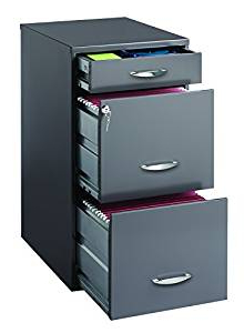 Filing Cabinets S1du Hirsh soho 3 Drawer File Cabinet In Charcoal Home Kitchen