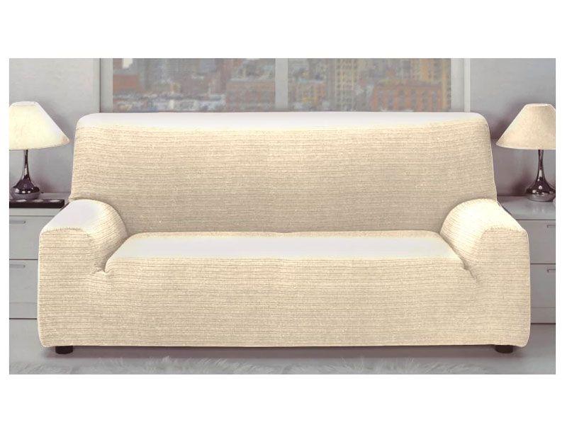 Forros Para sofas O2d5 Fundas Para sofa Color Marfil Elà Stica Jacquard Con Tejido Rústico