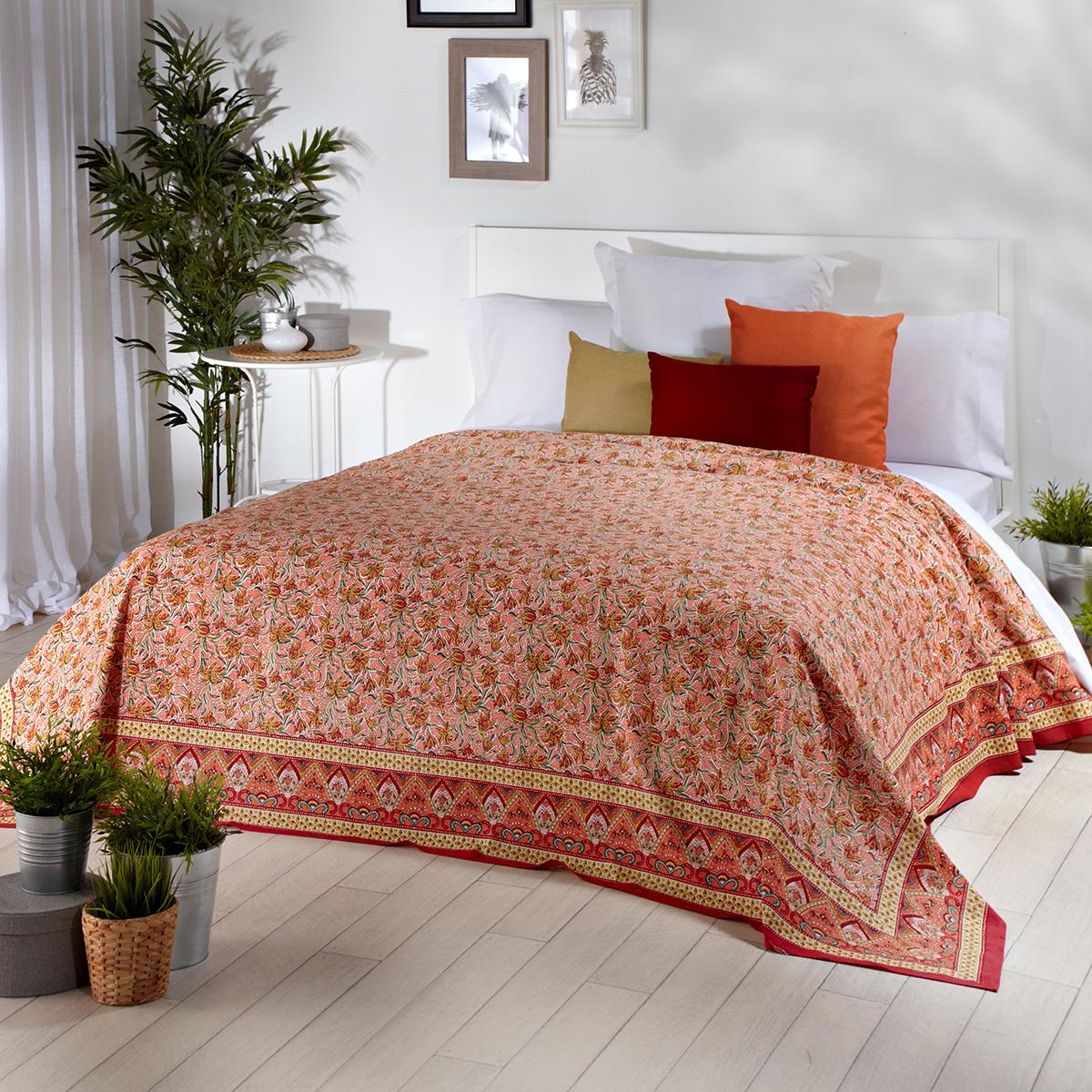 Foulard Para sofas Etdg Prar Foulard Multiusos Estampado Naranja Barato Foulard