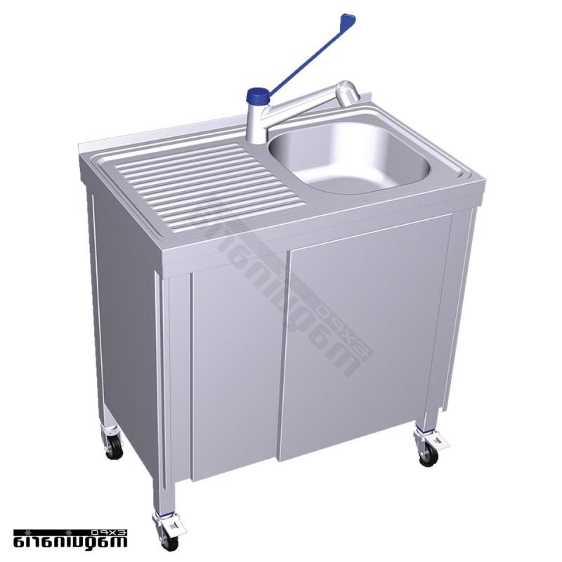 Fregadero Portatil Ftd8 Fregadero Inox Autonomo Con Agua Caliente Cubeta Y Escurridor Fr