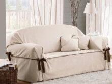 Funda De sofa Gdd0 Funda De sofà De Loneta Con Lazos A Contraste Beret Fundas Para