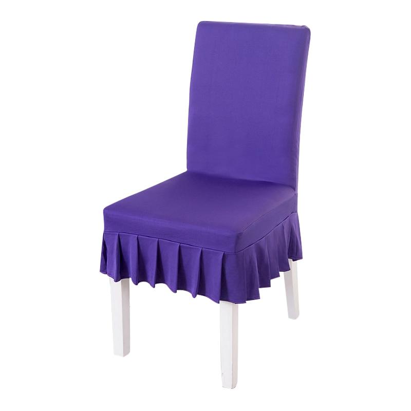Funda Para Silla T8dj Deep Purple Alta Calidad Spandex Fundas Para Sillas S Falda Corta
