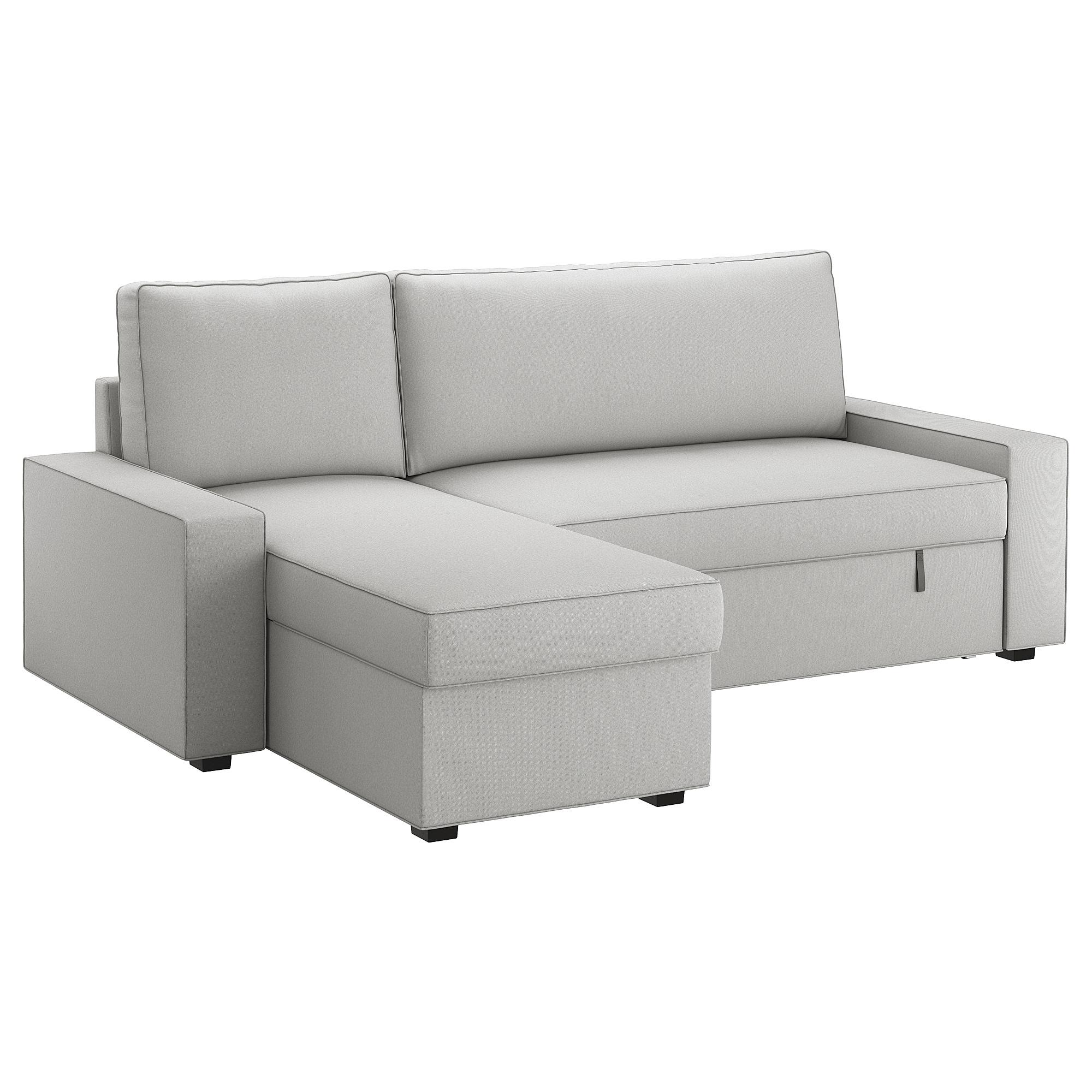 Funda sofa Cama 4pde Vilasund Funda sofà Cama Con Chaiselongue orrsta Gris Claro Ikea