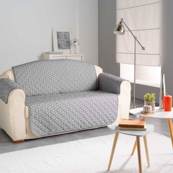 Funda sofa Gris 3ldq Funda Para sofà 2 Plazas Kiria Gris Decoracià N Textil Eminza