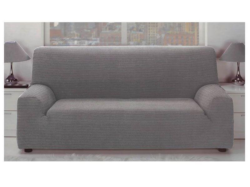 Funda sofa Gris Dddy Fundas Para sofà Color Gris Elà Stica Jacquard Con Tejido Rústico