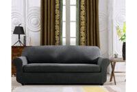 Funda sofa Gris Ftd8 Subrtex 2 Piece Spandex Stretch Funda De sofà sofà Gris