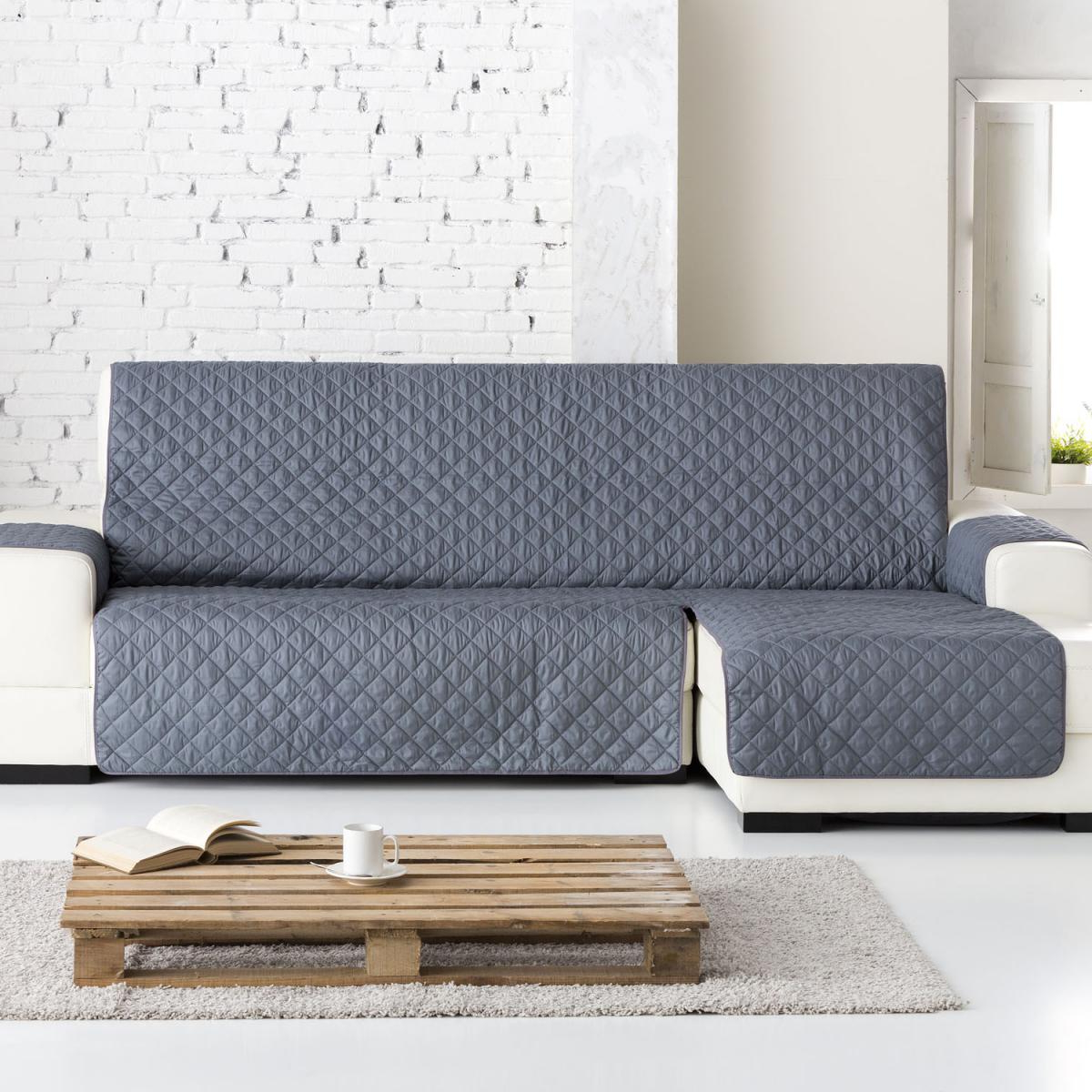 Funda sofa Gris Q0d4 Funda sofà Chaise Longue Dual Quilt Eysa