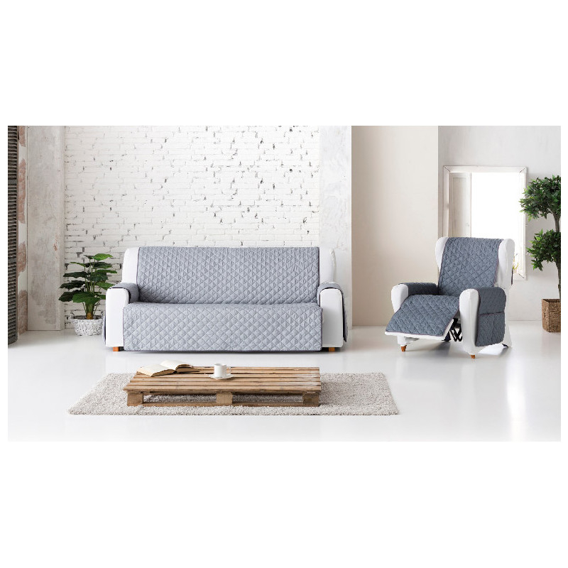 Funda sofa Gris Y7du Funda sofa Acolchada Reversible Gris Claro Oscuro Equis Decoracià N